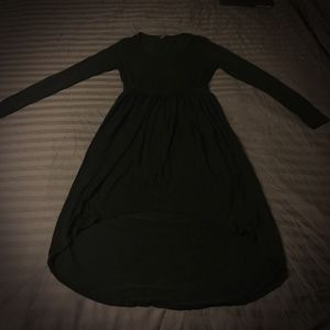 Dark and Flowy High Low Dress